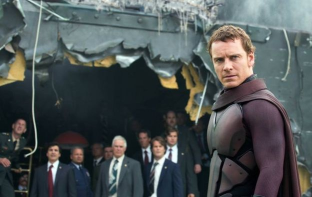Michael Fassbender Magneto maroon armored suit