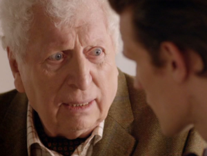 Tom Baker Matt Smith Doctor Who 50th anniversary show photo