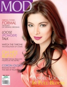 Angel Locsin's MOD May 2013 coveri currently in second place. Image/Facebook