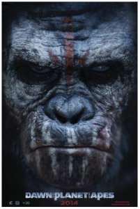 Dawn of the Planet of the Apes poster up close ape