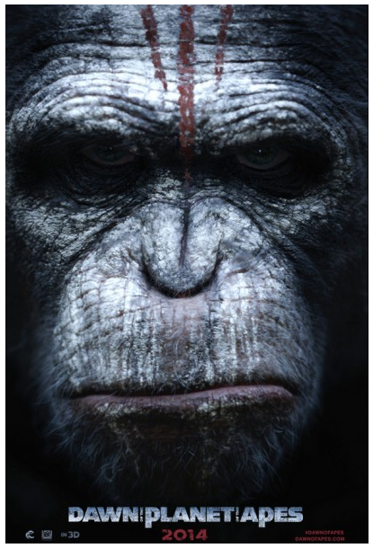 Dawn of the Planet of the Apes poster up close photo