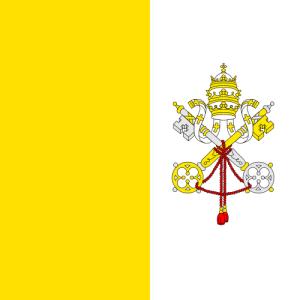 photo Flag of Vatican City, public domain via wikimedia commons