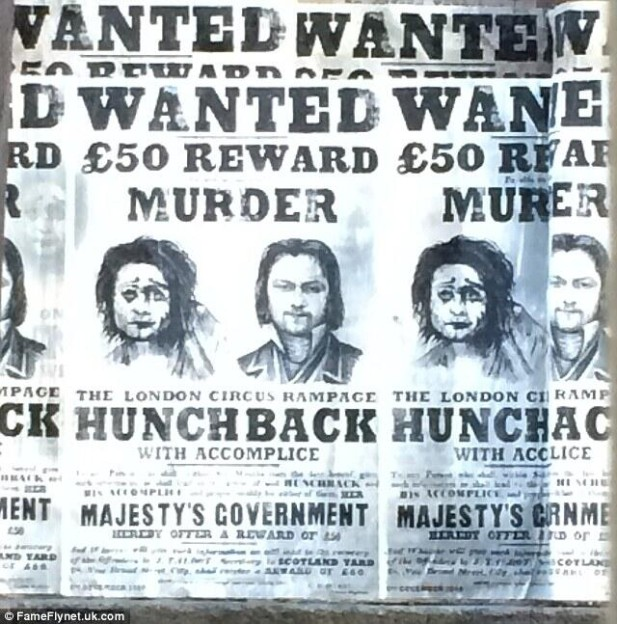 Frankenstein wanted poster Victor James McAvoy