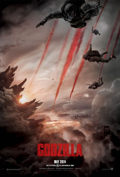 Godzilla poster halo jump red smoke