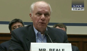Image: Former high-ranking Environmental Protection Agency (EPA) official John Beale testifies before the House Oversight Committee on Oct. 1, 2013.