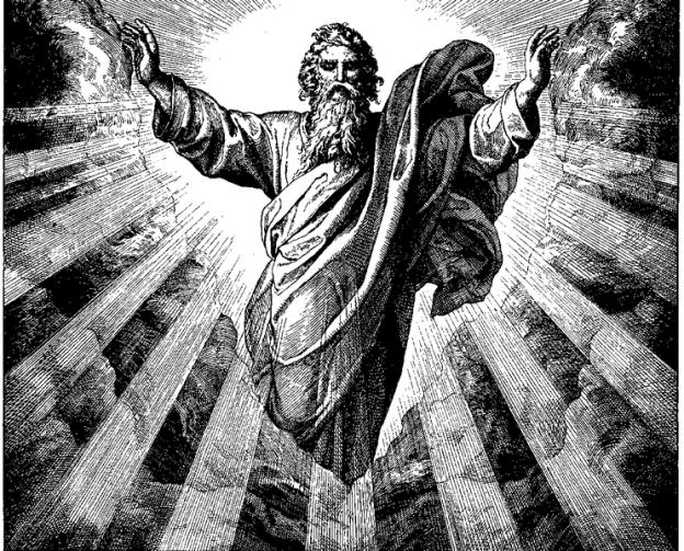 """Woodcut for """"Die Bibel in Bildern"""", 1860 by  Julius Schnorr von Carolsfeld"""