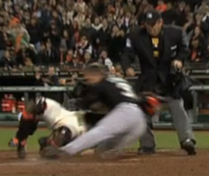 Scott Cousins home plate collision Buster Posey