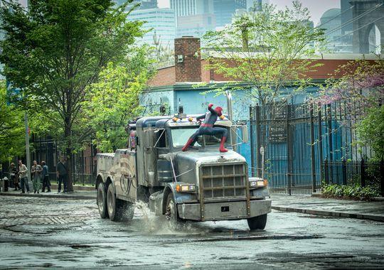 Spider-Man on truck battling Rhino Amazing Spider-Man 2 photo