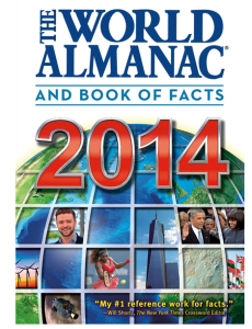 World Almanac 2014 book cover