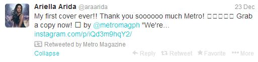 Ariella Arida tweet