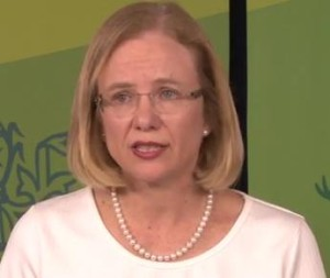 Queensland Health Chief Health Officer, Dr Jeannette Young Image/Video Screen Shot
