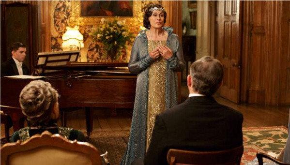 Dame Kiri Te Kanawa performs during season four of Downton Abbey on PBS