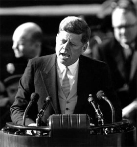 """""""And so, my fellow Americans: ask not what your country can do for you--ask what you can do for your country."""" - John F. Kennedy January 20, 1961"""