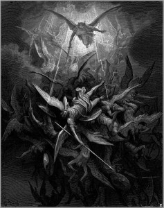 "Illustration for John Milton's ""Paradise Lost"" by Gustave Doré, 1866."