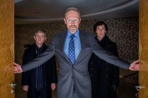 Sherlock-season 3 Lars Mikkelson Martin Freeman Benedict Cumberback
