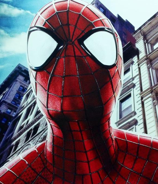 Spider-Man headshot  Amazing Spider-Man 2 photo