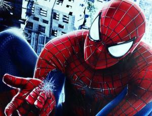 Spider-Man shooting web action Amazing Spider-Man 2 photo