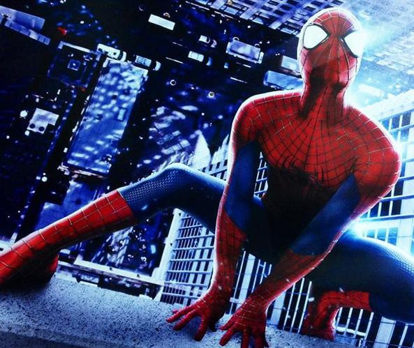 Spider-Man stretch pose  Amazing Spider-Man 2 photo