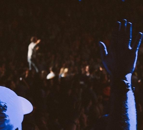 Praise and worship during Tenth Avenue North's set in Charleston, West Virginia photo via instagram @braidenmaddox