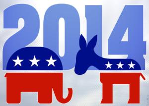 elephant donkey GOP DEM 2014 banner