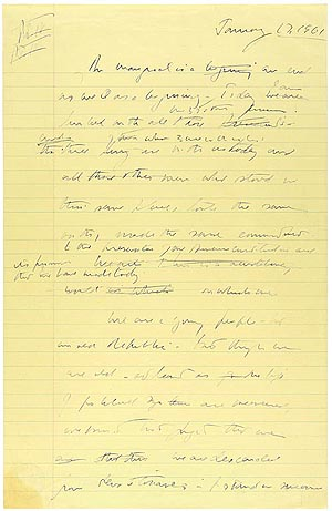 Draft of Kennedy's speech. National Archives