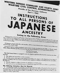 FDR intern Japanese American poster
