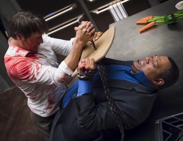 Hannibal season fight scene vs Crawford