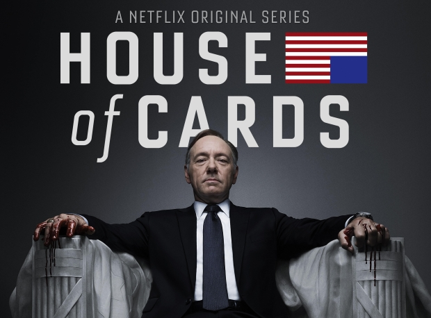 House of Cards banner kevin spacey bloody hands