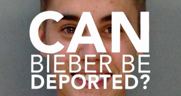 Justin Bieber deportation petition Bloomberg video screenshot