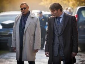 Laurence Fishburne  Mads Mikkelsen in Hannibal Season 2