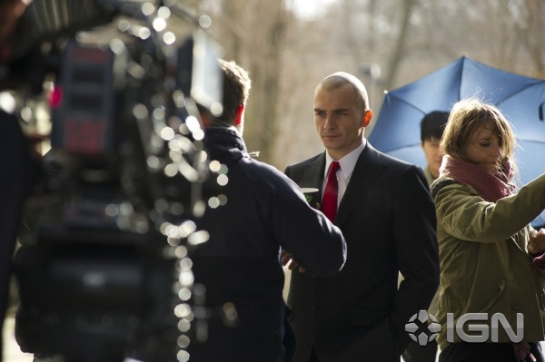 Rupert Friend Hitman Agent 47 set photo