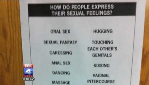 Sex Education sexual feelings poster anal sex intercourse graphic