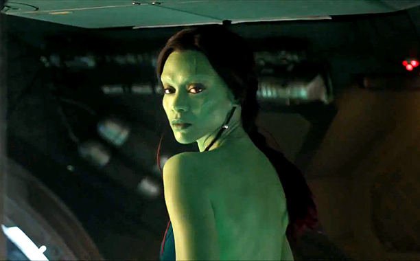 guardians-of-the-galaxy Zoe Saldana as Gamora