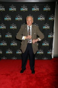"""Astronaut Buzz Aldrin shows off some moves that are """"out of this world"""" backstage at the Dancing with the Stars premiere last Monday night. photo courtesy HYDRIVE Energy Water"""