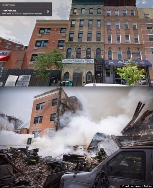 Christian church Harlem gas explosion destroys bulding