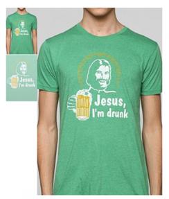Drunk Jesus tshirt Urban Outfitters