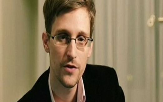 Edward Snowden addressing audience at SXSW via Skype