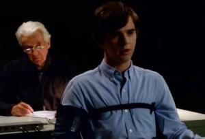 Freddie Highmore as Norman Bates lie detector photo