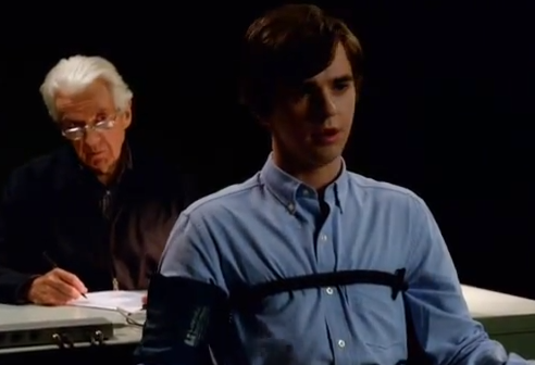 Freddie Highmore as Norman Bates lie detector photo