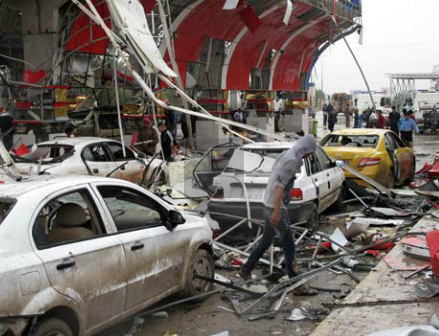 photo screenshot The Guardian video coverage of Iraq bombing