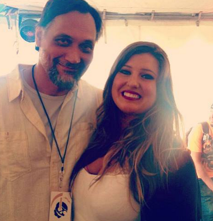 Jimmy Smits with Sarah Simmons photo/ courtesy of Sarah Simmons