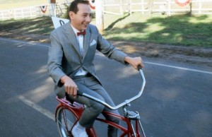 Pee wee Herman riding bike big adventure