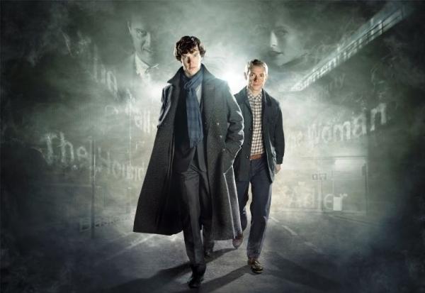 Sherlock banner Benedict Cumberbatch Martin Freeman