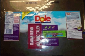 Dole brand Italian Blend salad  Image/CFIA