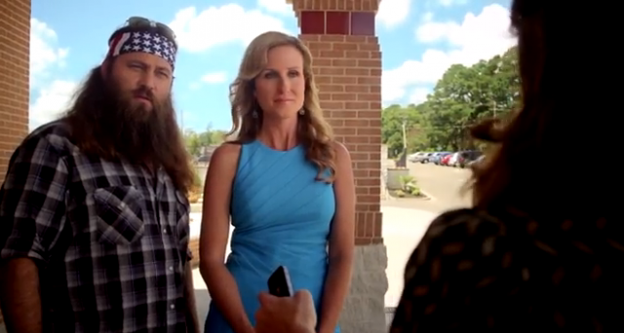 """Willie and Korie Robertson play themselves in """"God's Not Dead"""" and now face a ratings slump on their popular A&E show"""
