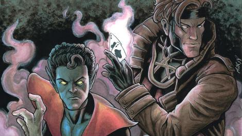 nightcrawler-and-gambit-marvel comics photo