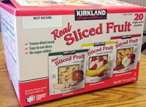 Kirkland Signature Real Sliced Fruit Image/FDA
