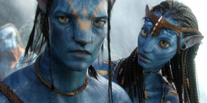 Avatar Sam Worthington Zoe Saldana duo photo