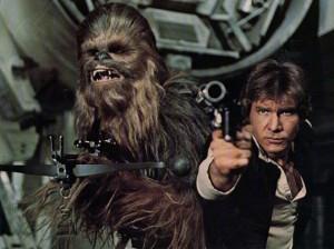 Chewbacca Han Solo Star Wars classic photo