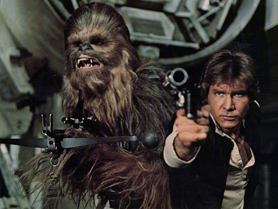 Chewbacca Han Solo Star Wars classic photo